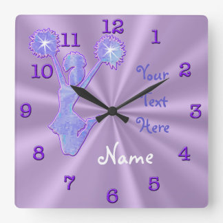 Unique PERSONALIZED Cheerleader Clocks with NAME