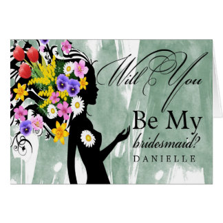 Unique Personalized Will You Be My Bridesmaid Card