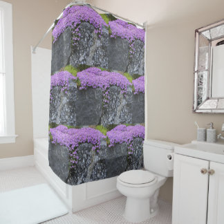 Unique Phlox Blossoms On Wall Shower Curtain