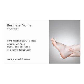 Unique Photo of Woman's Ankle Medical Pack Of Standard Business Cards