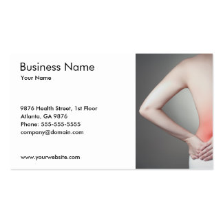 Unique Photo of Woman's Back Doctor Pack Of Standard Business Cards