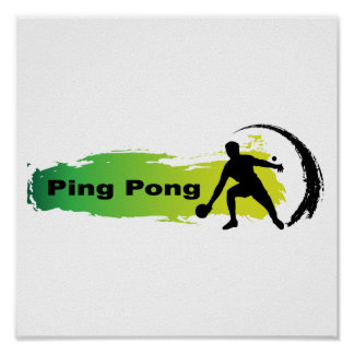 Unique Ping Pong Poster
