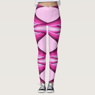 Unique Pink Pattern Leggings