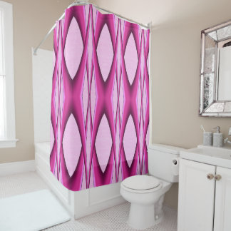 Unique Pink Pattern Shower Curtain