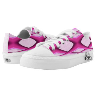 Unique Pink Pattern Sneakers