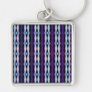 Unique Purple Pattern Key Ring