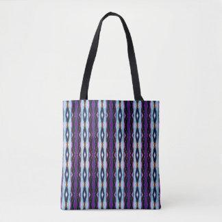 Unique Purple Pattern Tote Bag