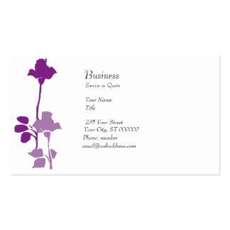 Unique Purple Roses Buds Business Card Templates
