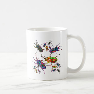 Unique Rainbow stag beetles art gifts accessory Coffee Mug