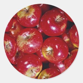 Unique Red apples Round Sticker