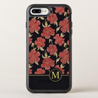 Unique Red Floral Blossoms Monogram | Phone Case