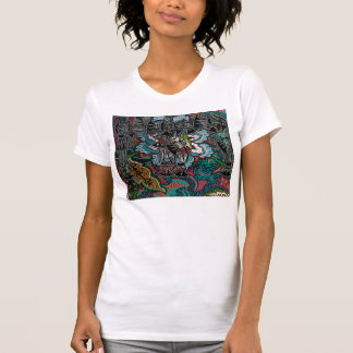 UNIQUE RETRO DESIGN FLOWERS & BELLS T-Shirt