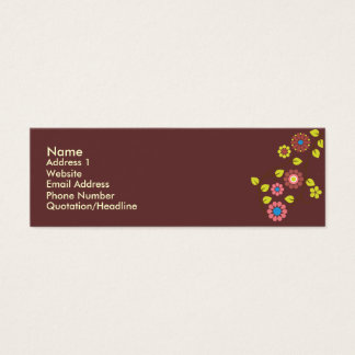 Unique Retro Flower contact Card