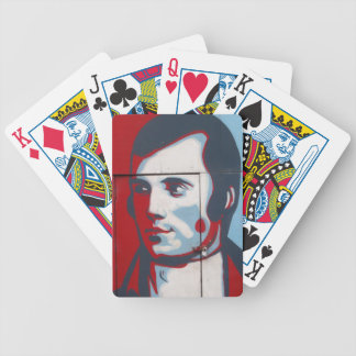 Unique Robert Burns Street Art! Bicycle Playing Cards