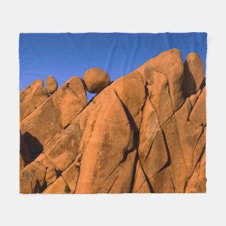 Unique rock formation, California Fleece Blanket
