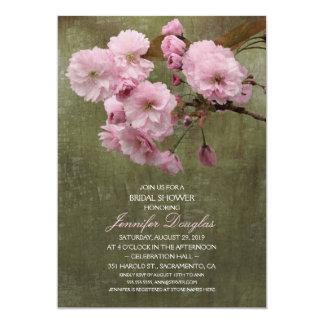 Unique Rustic Cherry Blossom Bridal Shower 13 Cm X 18 Cm Invitation Card