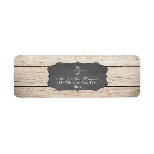 Unique Rustic Mason Jar Wedding/Bridal Shower Return Address Label