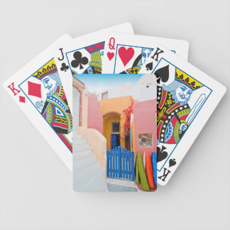 Unique Santorini architecture Bicycle Playing Cards