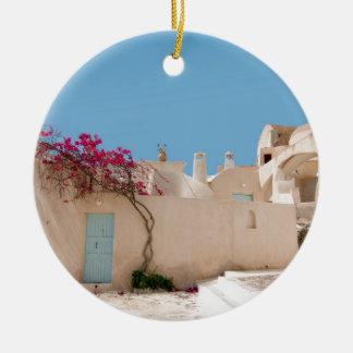 Unique Santorini architecture Ceramic Ornament