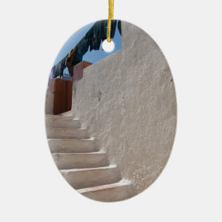 Unique Santorini architecture Ceramic Oval Decoration