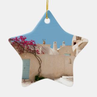 Unique Santorini architecture Ceramic Star Decoration