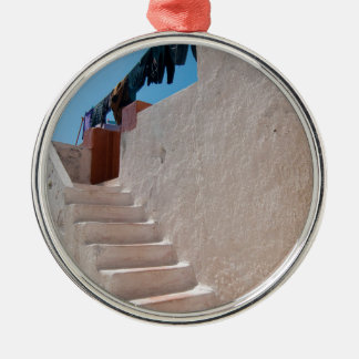 Unique Santorini architecture Metal Ornament