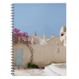 Unique Santorini architecture Notebook