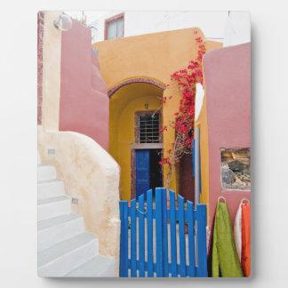 Unique Santorini architecture Plaque