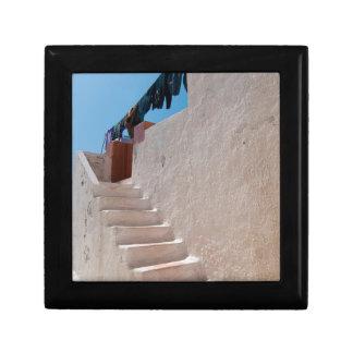 Unique Santorini architecture Small Square Gift Box