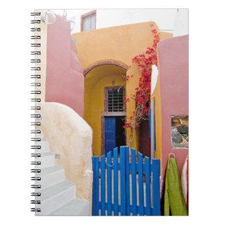 Unique Santorini architecture Spiral Notebook