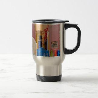 Unique Santorini architecture Travel Mug