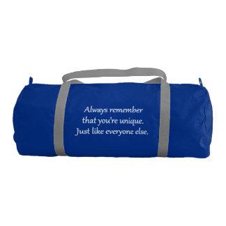 Unique - Sarcastic Zen Phrase Gym Bag