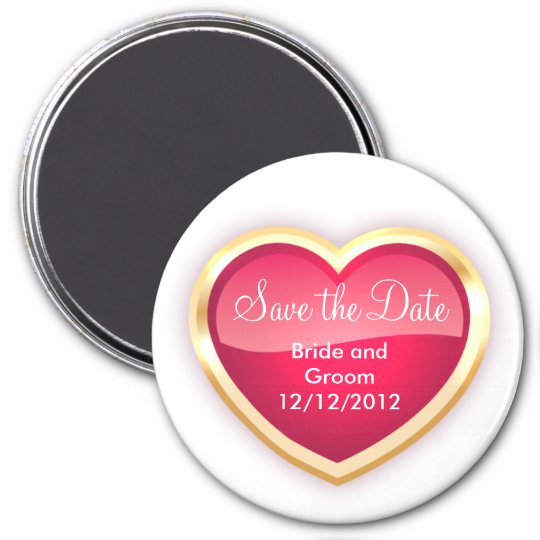 Unique Save The Date Magnet Personalised