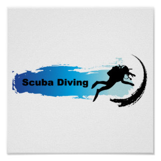 Unique Scuba Diving Poster