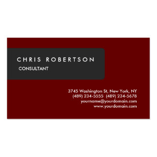 Unique Special Grey Dark Red Attractive Pack Of Standard Business Cards