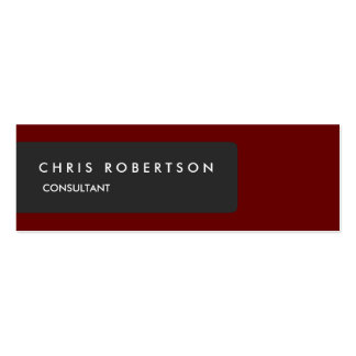Unique Special Grey Dark Red Slim Pack Of Skinny Business Cards