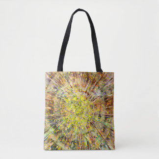 Unique Spin Art Tote Bag