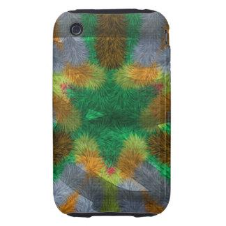 Unique strange pattern iPhone 3 tough cover
