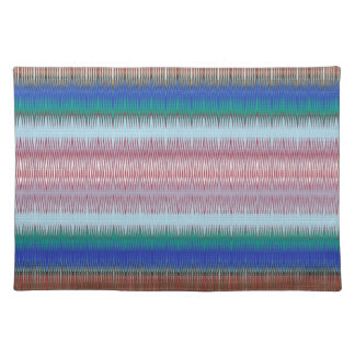 UNIQUE Stripe Patterns: Heavenly BLUE Rainbow GIFT Placemats