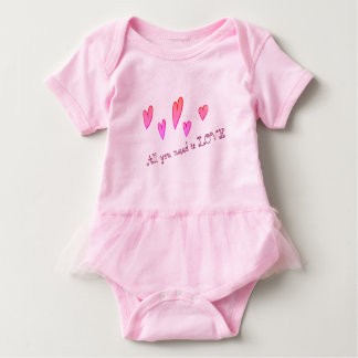 Unique Stylish  Love Baby Tutu Bodysuit