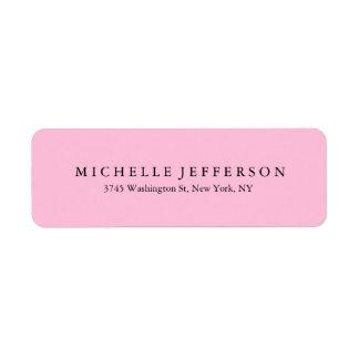 Unique Stylish Modern Elegant Pink Return Address Label