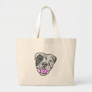 Unique Stylish Pit Bull Love Graphic Tote Bags