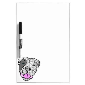Unique Stylish Pit Bull Love Graphic Dry-Erase Whiteboards