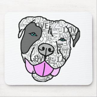 Unique Stylish Pit Bull Love Graphic Mousepads