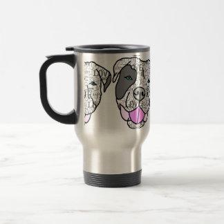 Unique Stylish Pit Bull Love Graphic Coffee Mugs
