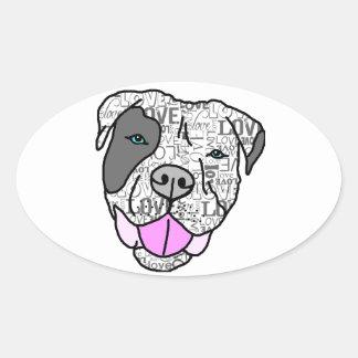 Unique Stylish Pit Bull Love Graphic Stickers