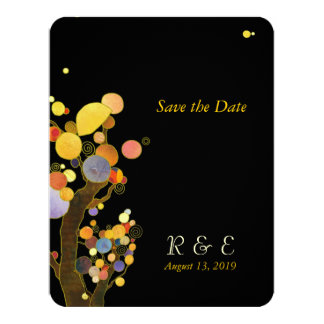 Unique Stylish Trees Wedding Save the Date 11 Cm X 14 Cm Invitation Card