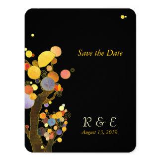 Unique Stylish Trees Wedding Save the Date 11 Cm X 14 Cm Invitation Card