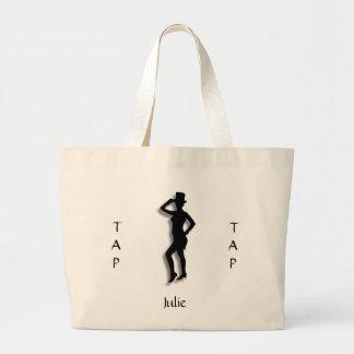 Unique Tap Dance Silhouette Tote Bag