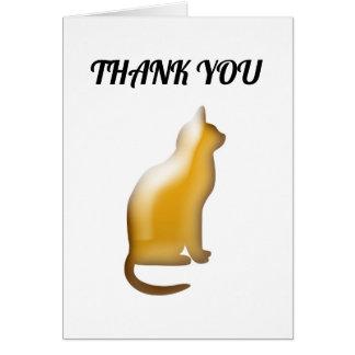 Unique Thank You for Cat Pet Sitter Caregiver Card